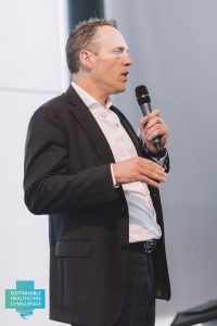 Gérard Klop, partner Vintura, in actie tijdens SHC Challenge en congres juni 2016