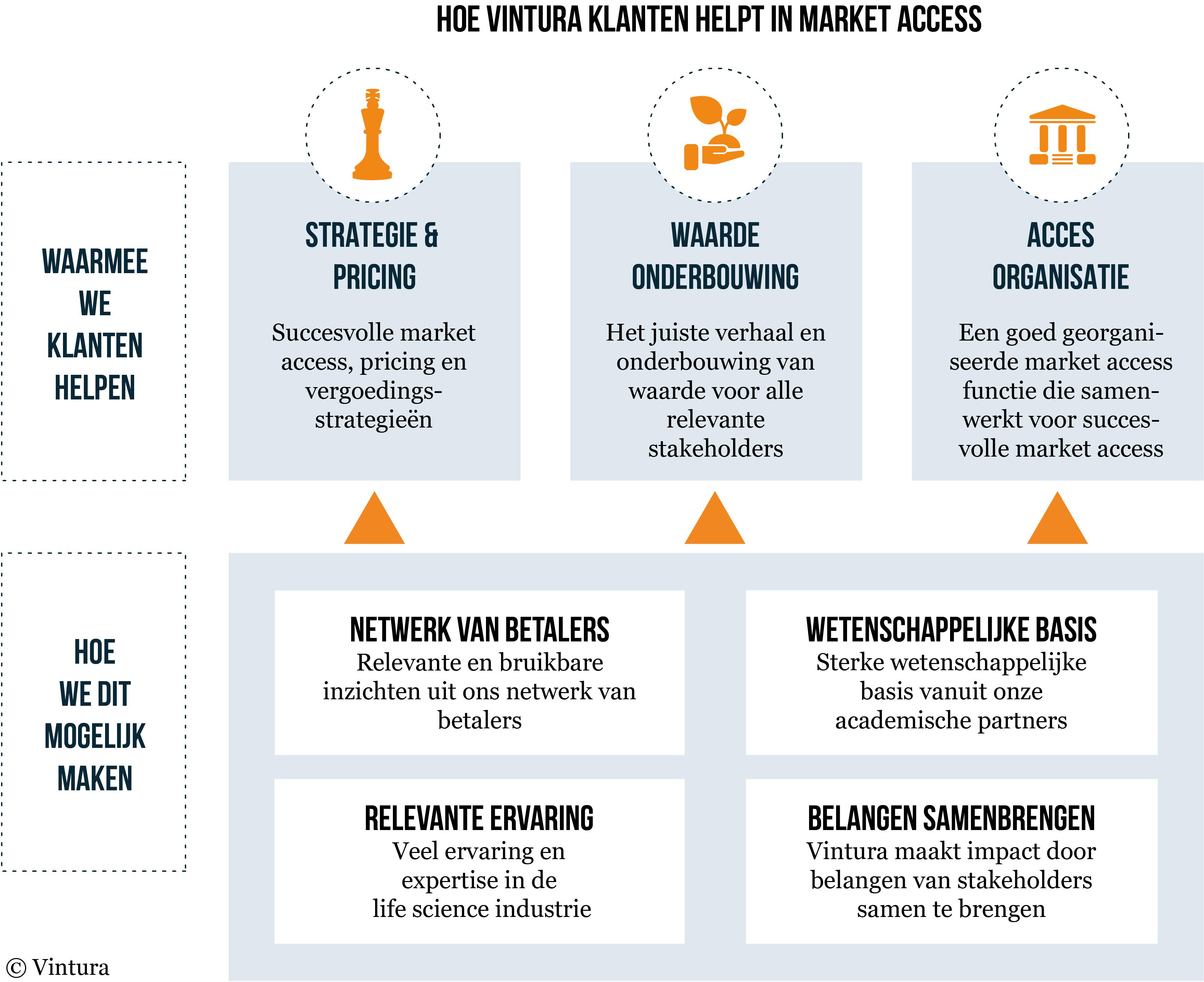 market access vintura consultancy life sciences - de vier pijlers schema